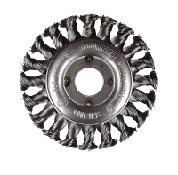 Pipeline wire brush wheel. Mild steel wire. 22mm and M14.